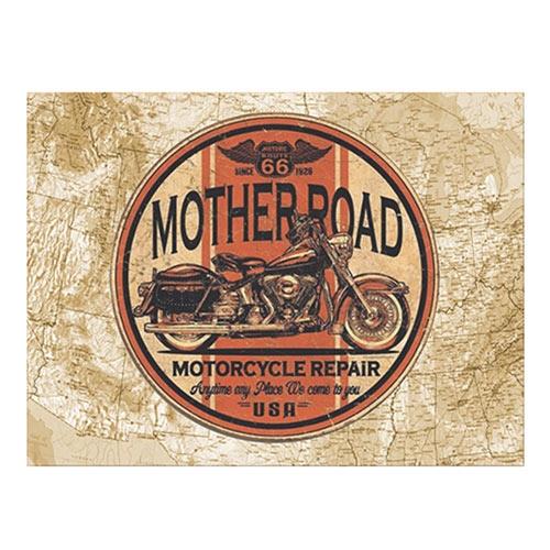 Placa Decorativa Mother Road Média em Metal - 30x20cm