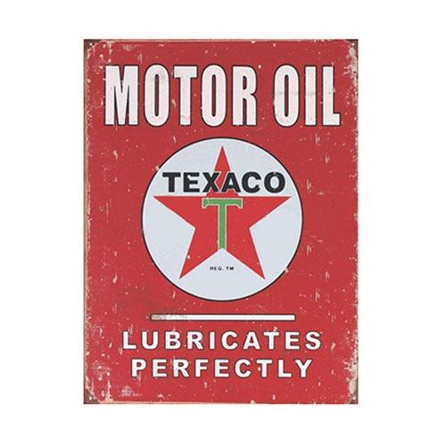 Placa Decorativa Motor Oil Texaco Grande em Metal - 40x30cm