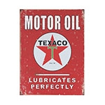 Placa Decorativa Motor Oil Texaco Média em Metal - 30x20cm