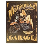 Placa Decorativa Motorhead Garage Grande
