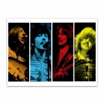 Placa Decorativa Músicos The Beatles Grande em Metal - 40x30 cm