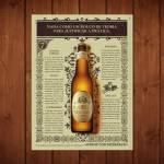 Placa Decorativa Nada como Bohemia com Impressão Digital em Metal - 40x30 cm