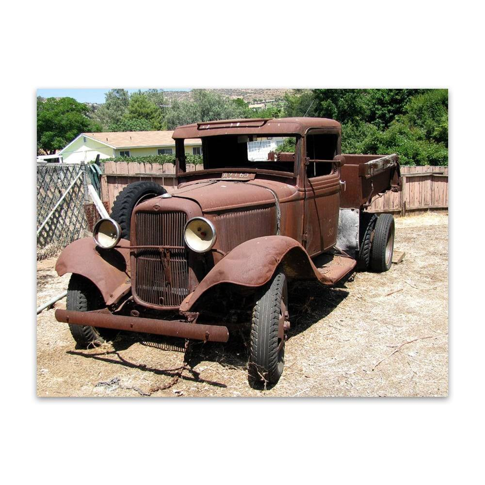 Placa Decorativa Old Car em Metal - 40x30cm