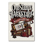 Placa Decorativa On Stage Backstage Jack Daniels Média em Metal - 30x20 cm