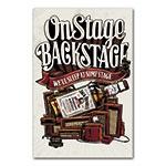 Placa Decorativa On Stage Backstage Jack Daniels Média em Metal - 30x20 cm