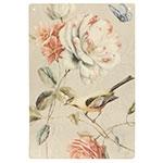 Placa Decorativa Pássaro Amarelo Média em Metal - 30x20cm