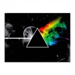 Placa Decorativa Pink Floyd Grande em Metal - 40x30 cm