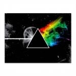 Placa Decorativa Pink Floyd Média em Metal - 30x20 cm