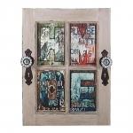 Placa Decorativa Porta Home Vintage em Madeira - 52x40 cm