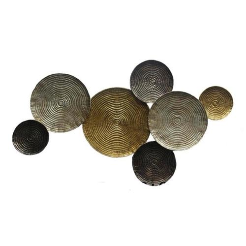 Placa Decorativa Pratos em Metal - 56,5x98 cm