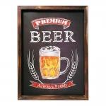 Placa Decorativa Premium Beer Chopp em MDF - 40x30 cm