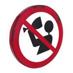 Placa Decorativa Proibido Beber em Metal - 45x45 cm