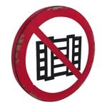 Placa Decorativa Proibido Fumar em Metal - 45x45 cm