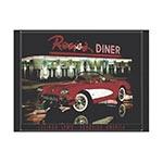Placa Decorativa Rosies Diner Grande em Metal - 40x30cm