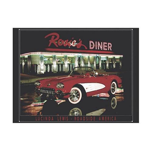 Placa Decorativa Rosies Diner Média em Metal - 30x20cm