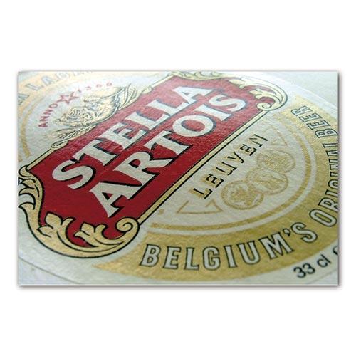 Placa Decorativa Rótulo de Cerveja Stella Artois Média em Metal - 30x20 cm