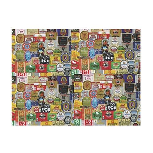 Placa Decorativa Rótulos de Cerveja Grande em Metal - 40x30cm