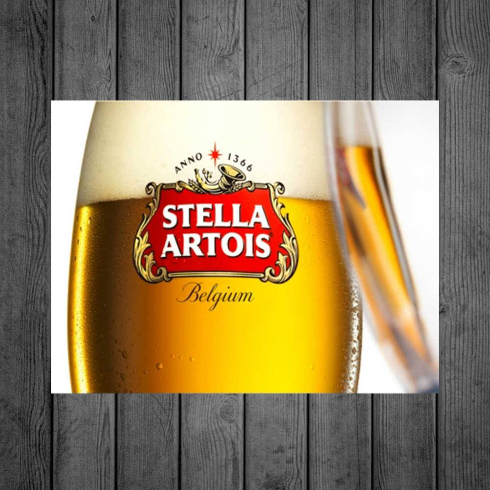 Placa Decorativa Stella Artois com Impressão Digital em Metal - 40x30 cm
