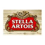 Placa Decorativa Stella Madeira Grande em Metal - 40x30 cm