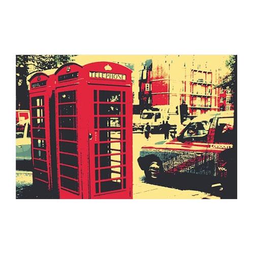 Placa Decorativa Telephone Média em Metal - 30x20 cm