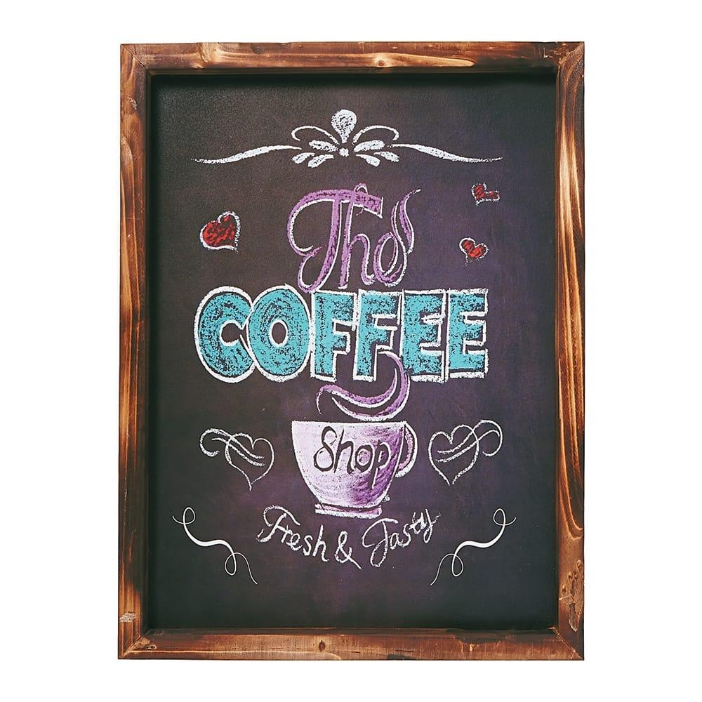 Placa Decorativa The Coffee Shop em MDF - 40x30 cm