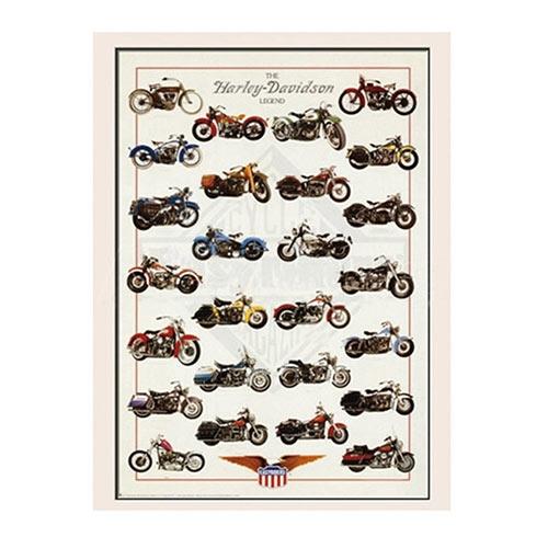 Placa Decorativa The Harley-Davidson Legend Grande em Metal - 40x30cm