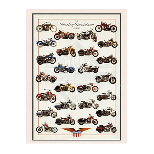 Placa Decorativa The Harley-Davidson Legend Média em Metal - 30x20cm