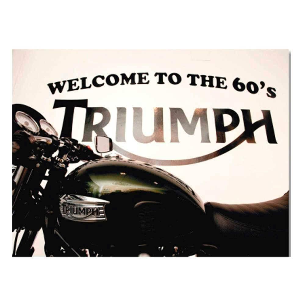 Placa Decorativa Triumph 60s com Impressão Digital em Metal - 30x20 cm