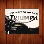 Placa Decorativa Triumph 60s em Metal - 40x30 cm