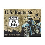 Placa Decorativa US Route 66 Grande em Metal - 40x30cm
