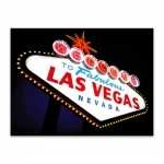 Placa Decorativa Vegas 2 Grande em Metal - 40x30 cm
