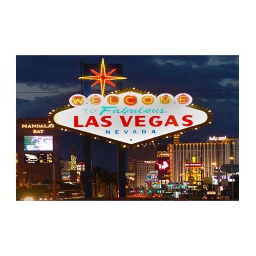 Placa Decorativa Vegas Nevada Grande em Metal -  40x30 cm