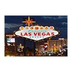 Placa Decorativa Vegas Nevada Média em Metal - 30x20 cm