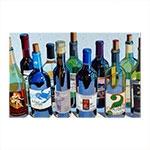 Placa Decorativa Vinho Média em Metal - 30x20 cm