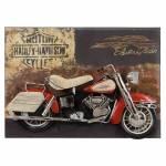 Placa Decorativa Harley Davidson Electro Glide em Ferro