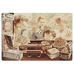 Placa Decorativa Vitrine Vintage Grande em Metal - 40x30cm