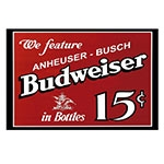 Placa Decorativa We Feature Budweiser Grande em Metal - 40x30cm