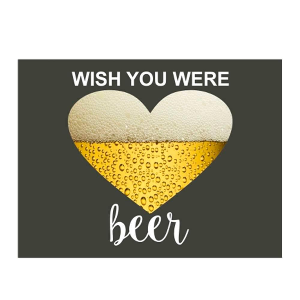 Placa Decorativa Were Beer com Impressão Digital em Metal - 30x20 cm