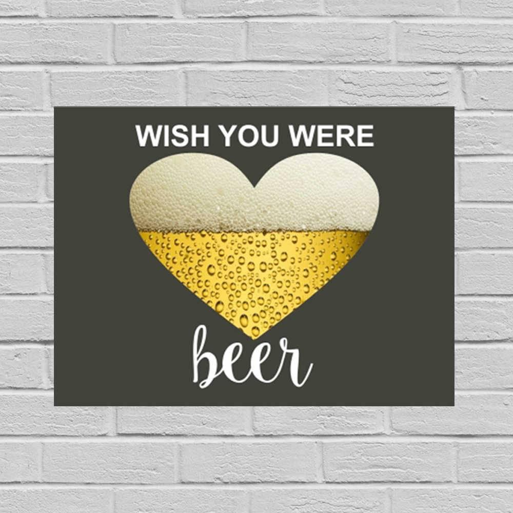 Placa Decorativa Were Beer com Impressão Digital em Metal - 40x30 cm