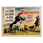 Placa Decorativa Winchester 73 Preta Média em Metal - 30x20 cm