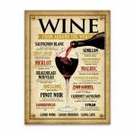 Placa Decorativa Wine World Bege Média em Metal - 30x20 cm