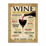 Placa Decorativa Wine World Bege Média em Metal - 30x20 cm