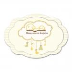 Placa Descansa um Anjinho Amarelo em MDF - 30x20 cm