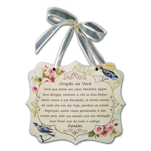 Placa Digital Oração da Vovó em MDF - 24x20,3 cm