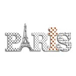 Placa Digital Paris em MDF - 29,5x12,5 cm
