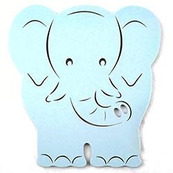 Placa Elefante Azul Bebê - Inf.