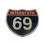 Placa estrada EUA 69