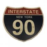 Placa estrada EUA 90