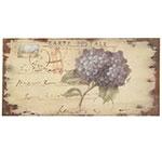 Placa Flor Ortência / Carta Postal