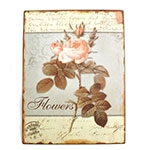 Placa Flowers Oldway - Metal